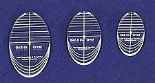 "Buy Oval Quilt Templates 3 Piece Set. 4"",5"",6""- Multi Purpose 1/4"""