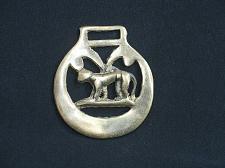 Buy Vintage Dog Medallion Harness Horse Brass Ornament Antique