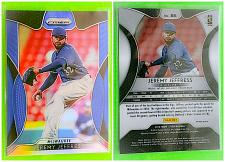 Buy MLB JEREMY JEFFRIES MILWAUKEE BREWERS 2019 PANINI PRIZM REFRACTOR #86 MNT