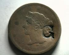Buy 1839 LARGE CENT LARGE COUNTER PUNCHED G ON HEAD NICE ORIGINAL COIN BOBS COINS