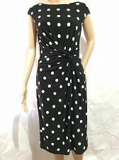 Buy Ralph Lauren black and white dots front Twist Dress