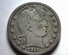Buy 1911 BARBER QUARTER DOLLAR VERY FINE VF NICE ORIGINAL COIN BOBS COINS FAST SHIP