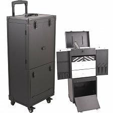 Buy Black Travel Barber Tool Trolley Equipment Large Organizer Clipper Trimmer Shear