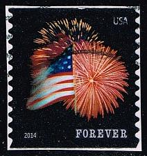 Buy US #4868 Fort McHenry Flag and Fireworks; Used (0.25) (3Stars) |USA4868-05