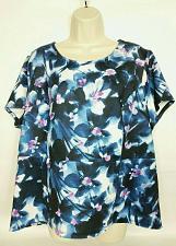 Buy Liz Claiborne Women's Blouse Top Size 1X Floral Blue White Purple Scoop Neck