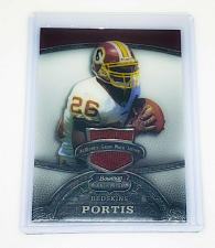 Buy NFL CLINTON PORTIS REDSKINS 2009 BOWMAN STERLING GAME-WORN JERSEY RELIC MINT