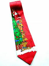 Buy Hallmark Yuletide Christmas Santa Claus Reindeer Climbing Tree Novelty Tie