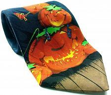 Buy Happy Halloween Pumpkin Jack O Lantern Frankenstein Bats Moon Novelty Tie
