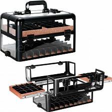Buy New Black Nail Polish Manicurist Organizer Storage Makeup Train Case Box Travel