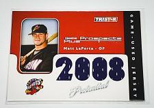 Buy MLB MATT LAPORTA 2008 TRISTAR QUAD GAME-WORN JERSEY MINT