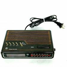 Buy Vintage GE Digital Alarm Clock Radio AM FM 7-4612B Wood Grain Tested Works