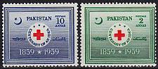 Buy PAKISTAN [1959] MiNr 0104-05 ( **/mnh ) Rotes Kreuz