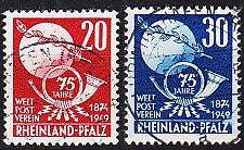 Buy GERMANY Alliiert Franz. Zone [RheinlPfalz] MiNr 0051-52 ( O/used ) Post geprüft