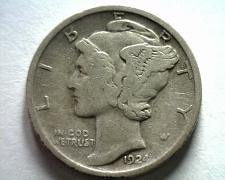 Buy 1924-D MERCURY DIME VERY FINE VF NICE ORIGINAL COIN FROM BOBS COINS FAST SHIP