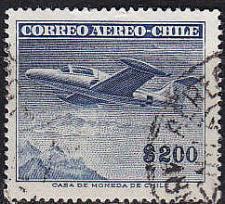 Buy CHILE [1955] MiNr 0502 ( O/used ) Flugzeuge