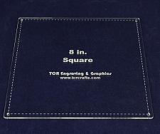 """Buy Square Template 8""""- Actual Size -with Seam - Clear 1/8"""""""