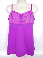 Buy Zella Women's Active Wear Tank Large Solid Purple Adjustable Straps V Neck