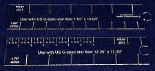 "Buy 2 Piece Set- Flag Stripe Marker-1/8"" Acrylic-10.64 & 17.29"