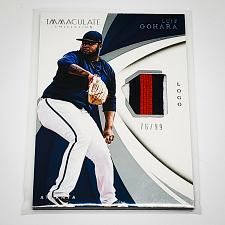 Buy MLB LUIZ GOHARA BRAVES 2016 PANINI IMMACULATE COLLECTION 3- COLOR PATCH SP/99