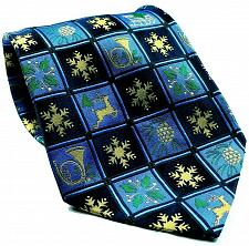 Buy American Greetings Christmas Snowflake Reindeer Holly Pine Cone Silk Necktie