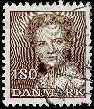 Buy Denmark #702 Queen Margrethe II; Used (3Stars) |DEN0702-02XBC