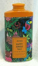 Buy Vintage Avon Happy Jungle Perfumed Talc Body Powder Tin Box 2.75 oz Full Rare