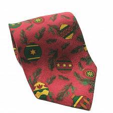 Buy Ralph Marlin Christmas Tossed Ornaments Red Green Necktie 100% Silk
