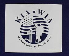 "Buy KIA-WIA Flag Stencil 12"" x 14"" Painting/Crafts/Templates"