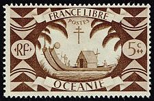 Buy French Polynesia #136 Ancient Double Canoe; Unused (0.40) (2Stars) |FRP0136-03