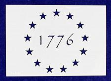 "Buy 13 Star 1776 Stencil 14 Mil-G-Spec -9.88""L - Painting /Crafts/ Templates"