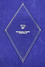 "Buy Diamond Template 12"" - Clear 1/4""- 60 Degree"