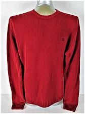Buy CHAPS MENS Large LONG SLEEVE RED 100% COTTON CREW NECK SWEATER (S)P