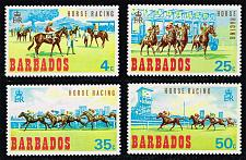 Buy Barbados #312-315 Horse Racing Set of 4; MNH (5Stars) |BAR0315set-01