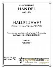 Buy Handel - Hallelujah Chorus from Messiah for Treble Chorus
