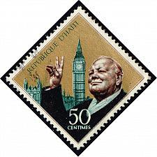 Buy Haiti #608 Winston Churchill and Big Ben; Used (0.25) (1Stars) |HAI0608-01XVA