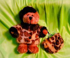 Buy VINTAGE DILLARD'S 6 INCH PLUSH TEDDY BEAR WITH FUR COAT AND FUR HANDBAG RARE