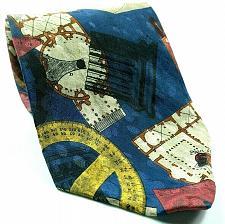 Buy Architecture Protractor Building Blue Prints Novelty Silk Tie