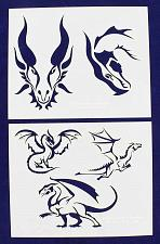 "Buy Dragons -2 Piece Stencil Set 14 Mil 8"" X 10"" Painting /Crafts/ Templates"