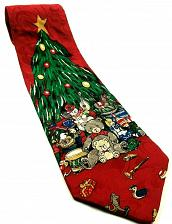 Buy Christmas Tree Toys Under Tree Bears Drum Dolls Rocking Novelty Silk Tie
