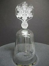 Buy Lenox Crystal 1984 christmas bell Made in USA mouth blown Platinum band