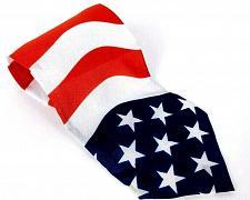 Buy Action Of America Men's Necktie Polyester Red White Blue American Flag Novelty