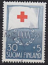 Buy FINLAND SOUMI [1957] MiNr 0484 ( O/used ) Rotes Kreuz