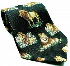 Buy Lion On Rock Animal Nature Big Cat Feline Lion Mane Novelty Necktie