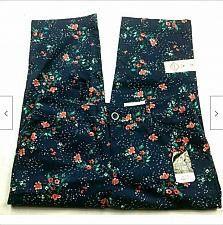 Buy NWT St Johns Bay Mid Rise Secretly Slender Capri Pants Size 4 Blue Orange Floral
