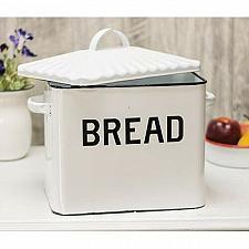 Buy Kitchen Storage Bin Bread Box Vintage White Enamel Farmhouse Style Container New