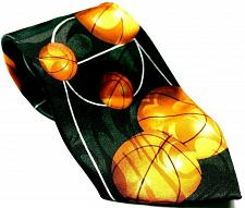 Buy Basketball Court Sport Black Orange Men's Necktie Novelty