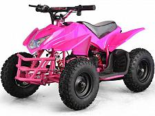 Buy Electric Battery 24V Pink Four Wheeler Kids Boys Girls Mini Quad ATV Dirt Bike