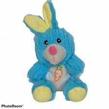 "Buy Greenbrier Easter Bunny Rabbit Blue Spring Carrot Plush Stuffed Animal 7.5"""