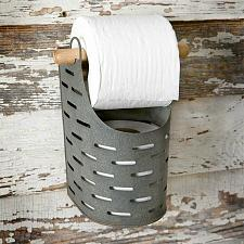 Buy Bathroom Toilet Paper Holder Metal Olive Bucket Storage Dispenser Wall Mounted
