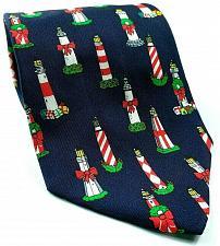 Buy Alynn Neckwear Lighthouse Nautical Christmas Wreath Bow Novelty 100% Silk Tie